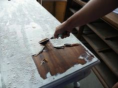 Saved by Suzy: How to Strip paint off wood furniture.
