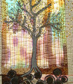 Art Quilt  Tree of Life by BozenaWojtaszek on Etsy,