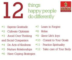 That is not a bad start--at all-- to living the most fruitful life possible: ) 12 Steps to Happy! #happy #health