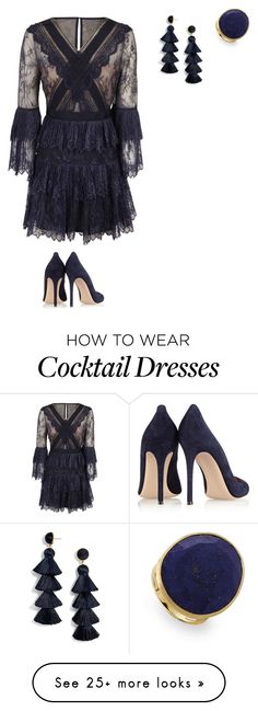 """""""Untitled #3452"""" by pinki123456 on Polyvore featuring self-portrait, Gianvito Rossi, Marco Bicego and BaubleBar"""