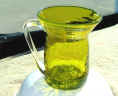 1950's LIME Green Pilgrim Crackle Hand BLOWN Glass.  You can Buy this on Etsy by GypsySeller, $16.95