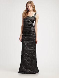 Nicole Miller Metallic Gown