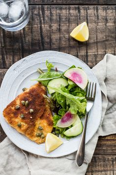 Fried Fish with Lemon-Butter Sauce — Foraged Dish Food Dishes, Main Dishes, Paleo Recipes, Cooking Recipes, Clean Eating Vegetarian, Lemon Butter Sauce, Shellfish Recipes, Fried Fish, Food Print