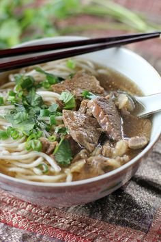 This humble #Taiwanese Beef #Noodle #Soup is so tasty and comforting you will definitely ask for seconds