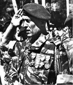 Colonel Roger Trinquier in Algeria, one of the father of modern COIN theory.