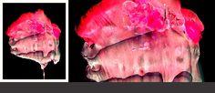 Nienasycona #akwarela #grafika komputerowa #abstrakcja #usta #czerwony #ekspresja #namiętność #usta