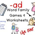 """Flash freebie in my store!!! For the next 30 minutes """"-ad Word Family CVC games & worksheets"""" is FREE!!!! Please be sweet & leave some feedback when you download!!! Staring at 2:00pm EST Sunday, July 28th!"""