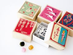 Candy box with Arigato messages Candy Packaging, Cool Packaging, Tea Packaging, Biscuits Packaging, Japanese Packaging, Japanese Candy, Japanese Style, Japanese Graphic Design, Packaging Design Inspiration