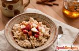 Apple-Cinnamon Slow Cooker Oatmeal Recipe | SparkRecipes