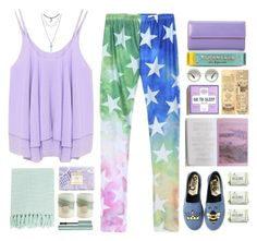 """*1563"" by cutekawaiiandgoodlooking ❤ liked on Polyvore featuring Lodis, WithChic, Circus By Sam Edelman, Miu Miu, AERIN, Pier 1 Imports, Too Faced Cosmetics, Surya, colorful and cuteoutfit"
