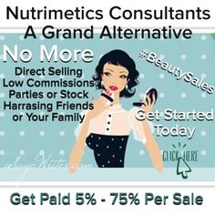 Nutrimetics Consultants - A Grand Alternative To Low Sales | iSage #Nutrimetics #Avon #MaryKay #AffiliateMarketing #BeautySales #sageshelbe #isagewriter  Sage Shelbe URL http://bit.ly/iwiamfb Email: sage@isagewriter.com Blog: http://isagewriter.com Follow me @isagewriter or +Sageshelbe  If you need assistance please Email me, sage@isagewriter.com