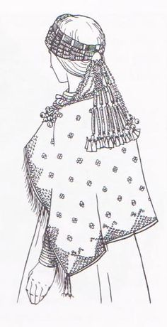 Ancient Selonian dress from the Iron Age in Latvia, circa centuries. Middle Ages History, Early Middle Ages, Medieval Costume, Medieval Dress, Historical Costume, Historical Clothing, Viking Clothing, Norse Vikings, Viking Age