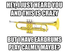 Trumpets need to learn to calm down when they play