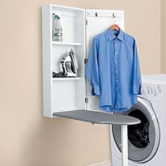 wall mounted ironing board cabinet