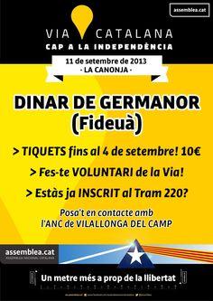 DINAR DE GERMANOR - Tiquets Vilallonga del Camp