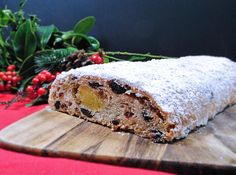 Christmas Stollen with homemade marzipan.