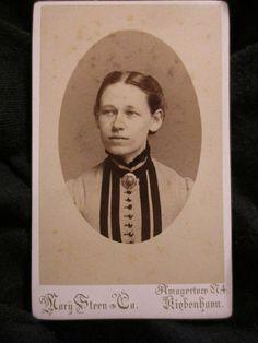 Original CDV PHOTO Royal photographer Mary Steen & Co 1800s Copenhagen Denmark