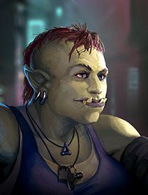 Ork Female Shadowrunners Portraits from Shadowrun Returns and Shadowrun Dragonfall.