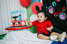 "Photo 3 of 52: Mickey Mouse / Birthday ""It's Damian John's 1st Birthday Party"" 