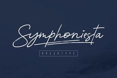 Great Symphoniesta Brushtype font CreativeWork247 - Fonts, Graphics, Themes,...