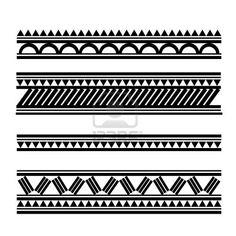 Braceletes com padrões do maori polinésio