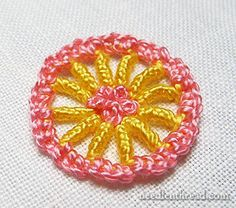 Stitch Fun Tutorial! Buttonholed Bullion-Buttonhole Wheels. They're fun!