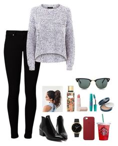 """#419"" by samarc on Polyvore featuring Vero Moda, Apple, Lipstick Queen, Maybelline, Nixon, Victoria's Secret, Ray-Ban and COVERGIRL"
