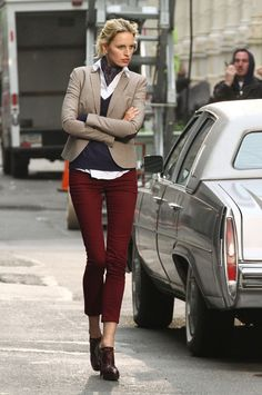 Karolina Kurkova - layers and skinnies
