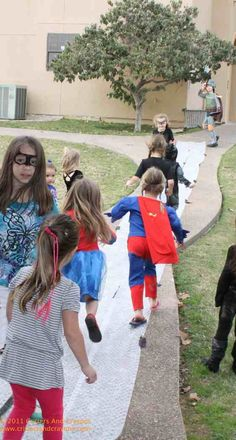 Super Hero BAM! POW! POP! Bubble-Wrapped Sidewalk!  Crazy loud and fun!