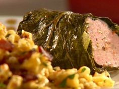 Pork-Stuffed Collard Greens from CookingChannelTV.com Sunny Anderson's Cooking for Real!!