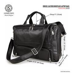 UBaymax Men's Top-Zip Genuine Leather 17 Inch Laptop Handbag Briefcases Carry On Overnight Bag (Black) Laptop Messenger Bags, Laptop Backpack, Laptop Bags, 17 Laptop, Leather Laptop Bag, Leather Briefcase, Leather Bags, Briefcase For Men, Business Briefcase