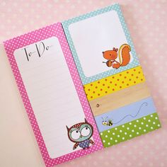 Woodland Creatures Sticky Notes Booklet by MrsBrimbles on Etsy