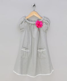 Loving this Gray Angelique Bishop Dress - Toddler & Girls on #zulily! #zulilyfinds