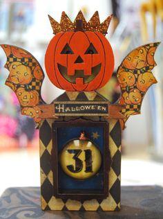 A fun mini Pumpkin Fairy Shrine for my favorite holiday...by MJChadbourne/DesertDream Studios