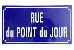 Paris Enamel Street Sign