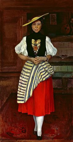 Cuno Amiet (Swiss, 1868-1961) - Old Solothurn costume, 1936