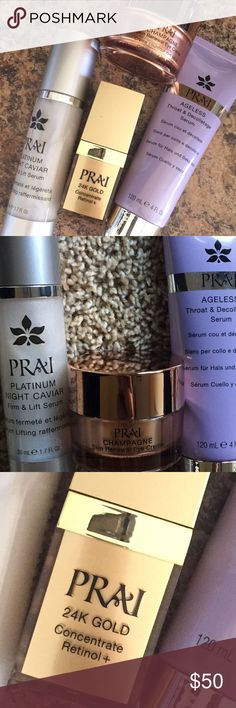 Prai skincare bundle By Cathy Kangas, PRAI Beauty is dedicated to offering skincare with high-quality, luxury ingredients and high-performance formulas. PRAI believes in REAL Results, REAL Women, REAL Fast! The PRAI Extract was historically reserved for the Thai royal family and now reserved exclusively for PRAI Beauty. Makeup