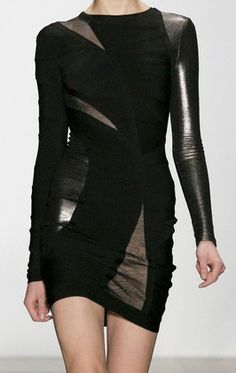 Herve Leger Dress by french designers Max & Lubov Azria [[Date Night]]