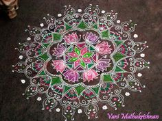 <3 rangoli kolam ♥ sangeet ♥ Indian ♥ fusion ♥ wedding ♥ decor ♥ reception ♥