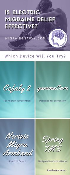 Cefaly, gammaCore, Spring TMS, Biofeedback and there's a new kid on the block. Click here to read about the electric migraine relief devices that could help you not just manage your migraines, but hopefully eliminate them. www.MigraineSavvy.com
