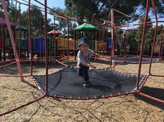"""Bouncing into Tuesday! When a friend suggests a beaut' playground, you've just got to test it out.  #littlemelbourne #packerreserve Carnegie #murrumbeena…"""