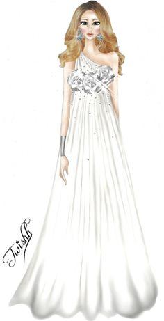 ...White Dress...Fashion Roses by TwISHH on deviantART