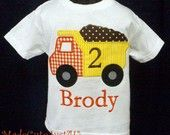 Construction Dump Truck Personalized Birthday Shirt