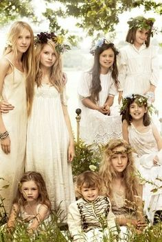 Bridesmaids, flower girls, and ring bearers. YES.