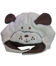 Bear Patch White Fur Cap