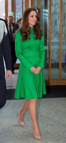 Kate Middleton looked lovely as ever in a green Catherine Walker dress on an outing in Australia.                                    via @AOL_Lifestyle Read more: http://www.aol.com/article/2016/03/16/16-green-celebrity-style-moments-we-loved/21328976/?a_dgi=aolshare_pinterest#slide=3833804|fullscreen