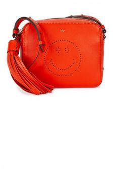 Anya Hindmarch Red Smiley Leather Cross Body Bag, £550