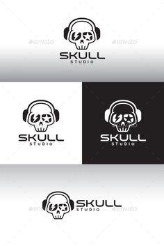 Skull Studio Logo Template — Vector EPS #eps #logo template • Available here → https://graphicriver.net/item/skull-studio-logo-template/12517719?ref=pxcr