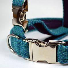 herringbone harris tweed dog collar by my mcdawg   notonthehighstreet.com