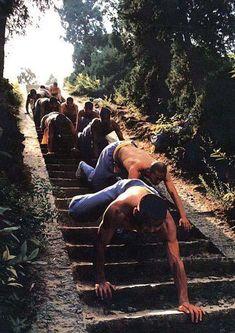 Trappetræning - for de hårde hunde! Har prøvet det og kan hilse og sige at det er vildt hårdt :-) shaolin_stairs_crawling_kungfu_training